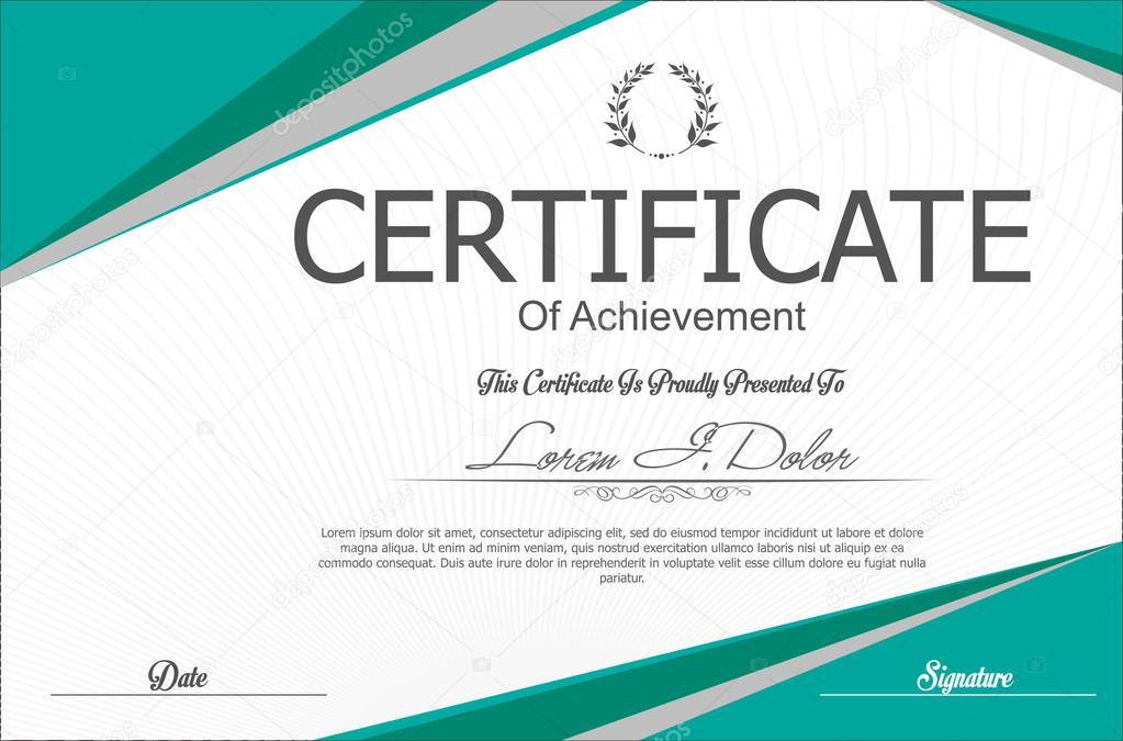 Plantilla de certificado o diploma moderno — Archivo Imágenes ...