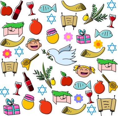 Rosh Hashanah Holidays Symbols Pack