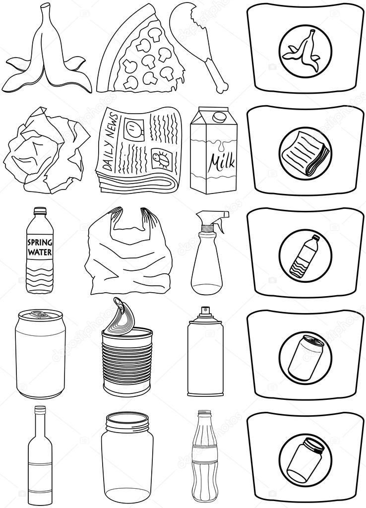 Imágenes Alimentos Enlatados Para Colorear Alimentos Botellas