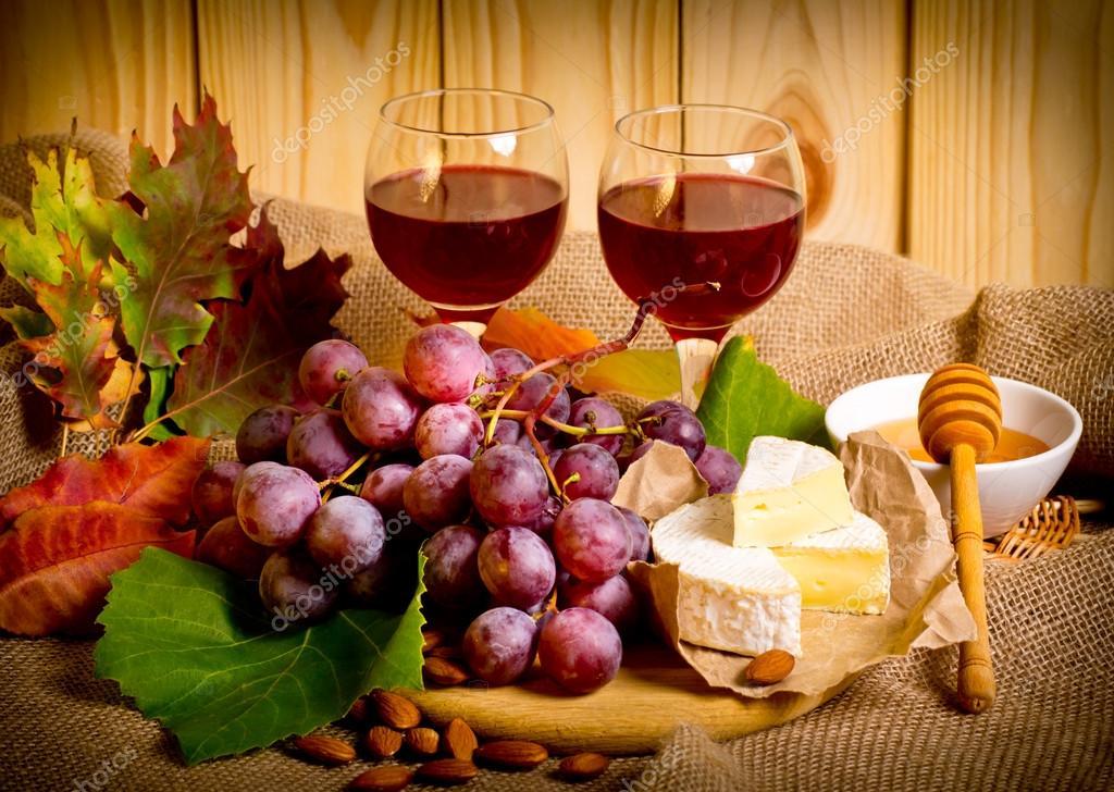 С виноградом и грецкими орехами Готовим оригинальные