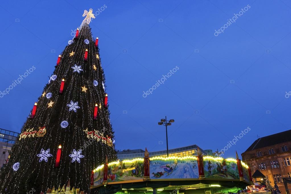 Dortmund Weihnachtsbaum.Weihnachtsbaum In Dortmund In Deutschland Stockfoto Prosiaczeq