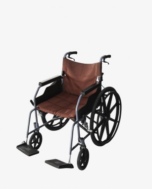 Wheelchair service isolate background