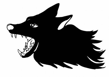 Image of a wolf snarl