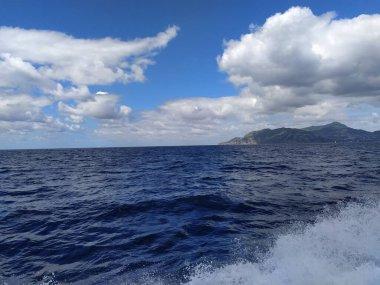 Boat to Ischia Island in Naples, Italy