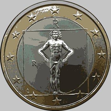 Vitruvian man worried about Euro