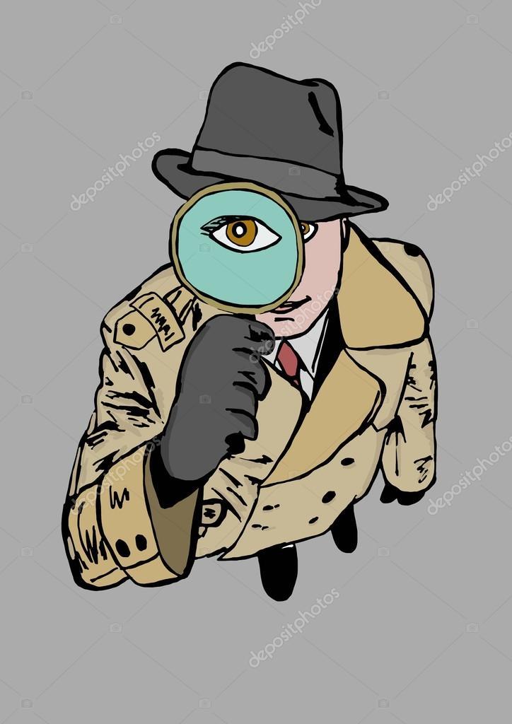 Occhio dell investigatore u foto stock logan