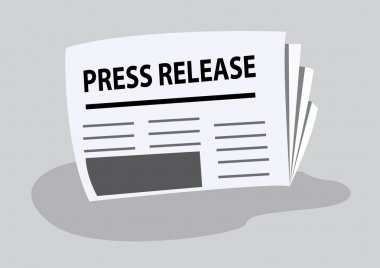 press release written on newspaper. vector illustration