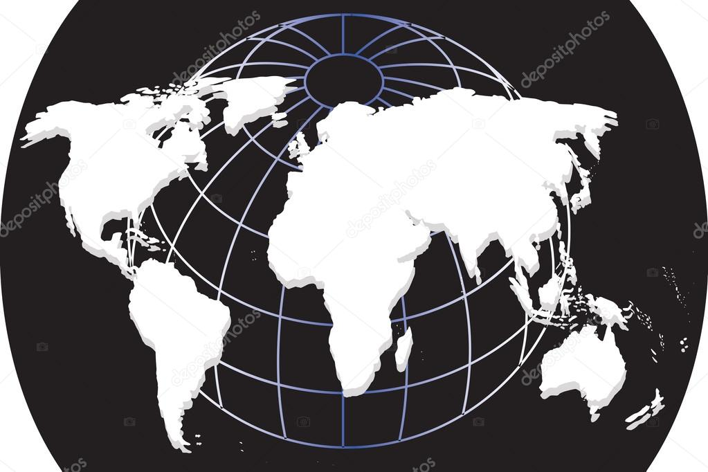 White continental of world map on black background archivo white continental of world map on black background archivo imgenes vectoriales gumiabroncs