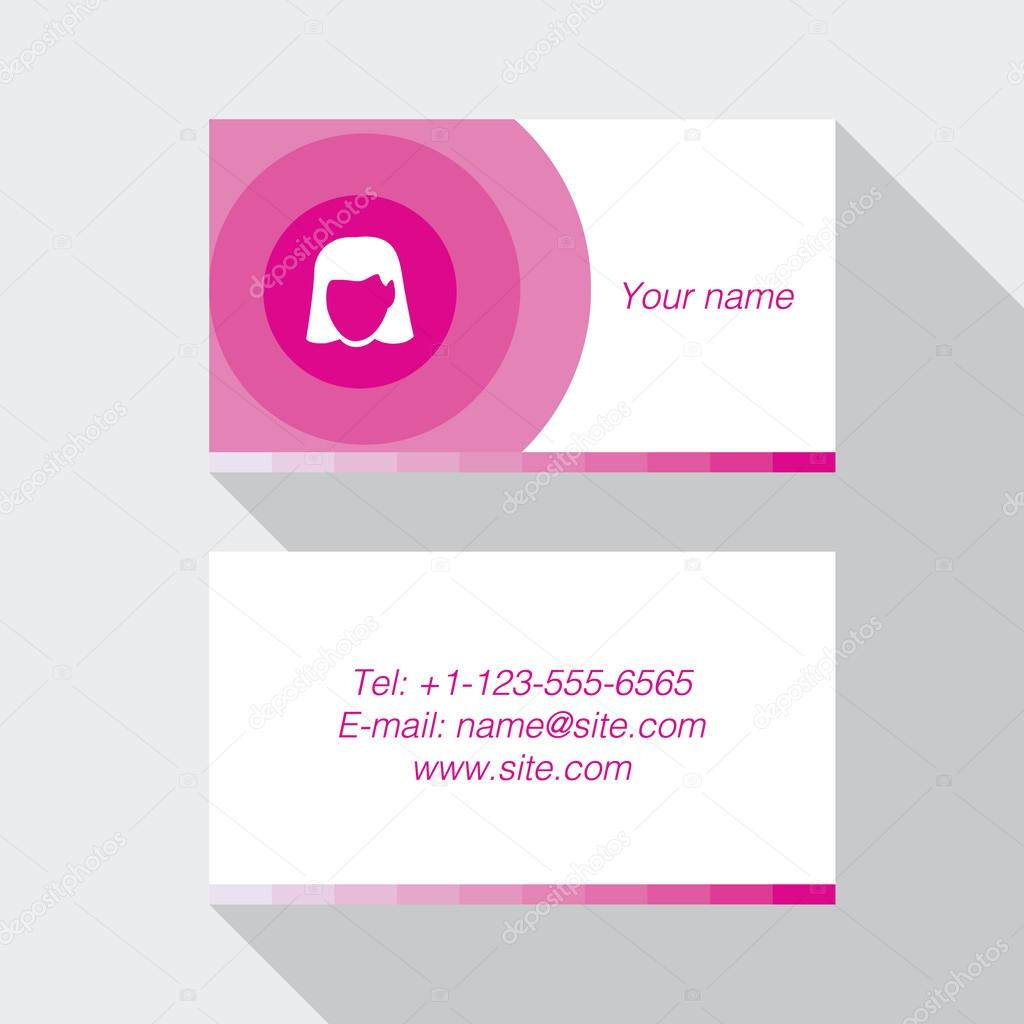 Modern pink business card template stock vector booblgum 62676981 modern pink business card template stock vector colourmoves