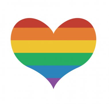 Heart icon with rainbow flag