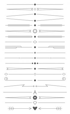 set of design elements for page decoration