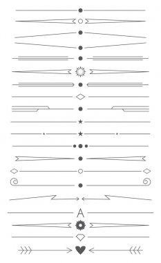 set of design elements for page decoration
