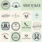 Photo Set of vintage shoes repair and shoemaker labels