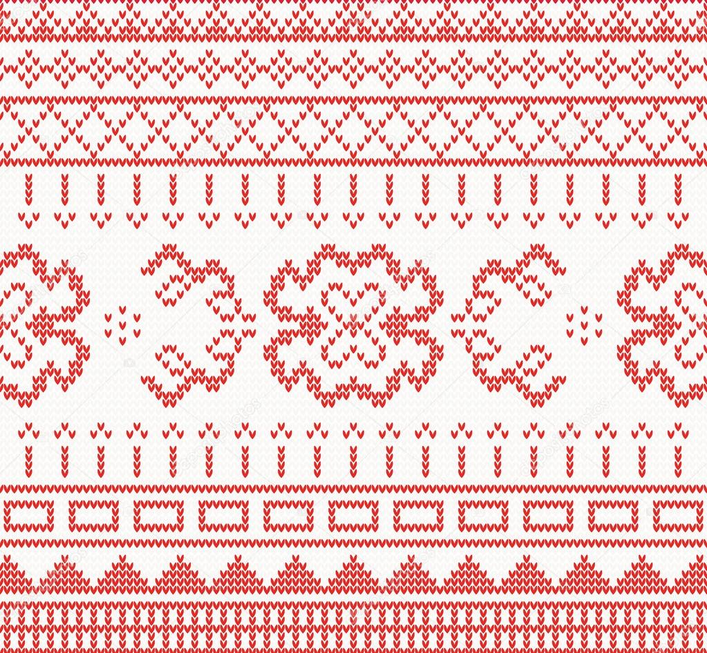 Knitted pattern with ornament vector illustration vetor de stock knitted pattern with ornament vector illustration vetor de stock stopboris Gallery