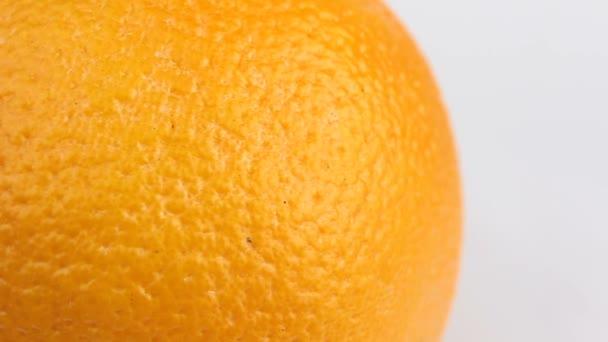 Close up of ripe juicy orange.