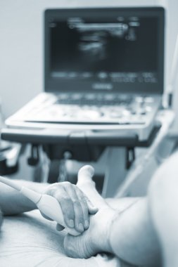 Ultrasound ecography EPI physiotherapist