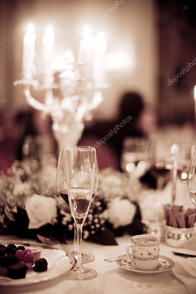 Hochzeit Empfang Hochzeit Partei Getränke — Stockfoto © edwardolive ...