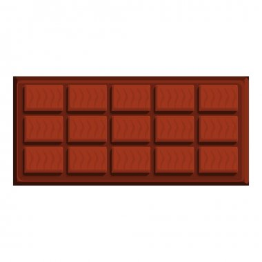 Fresh chocolate bar icon. Cartoon of fresh chocolate bar vector icon for web design isolated on white background icon