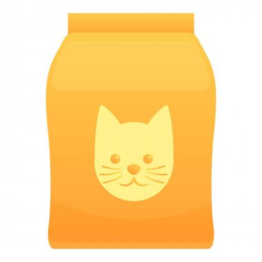 Cat food pack icon. Cartoon of cat food pack vector icon for web design isolated on white background icon