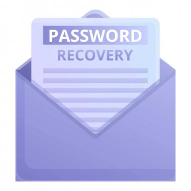 Envelope password recovery icon. Cartoon of envelope password recovery vector icon for web design isolated on white background icon
