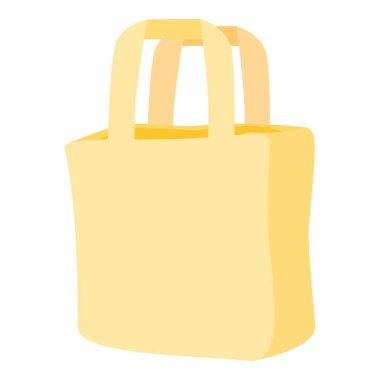 Carton bag icon. Cartoon of carton bag vector icon for web design isolated on white background icon