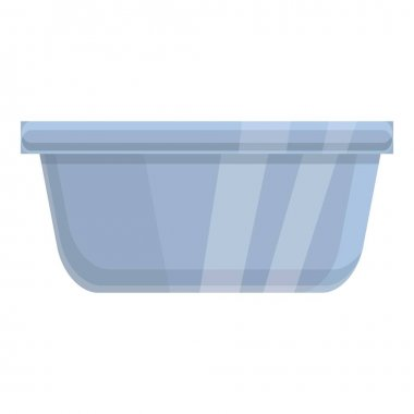 Plastic food container icon. Cartoon of plastic food container vector icon for web design isolated on white background icon