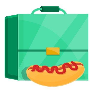 School breakfast hotdog icon. Cartoon of School breakfast hotdog vector icon for web design isolated on white background icon