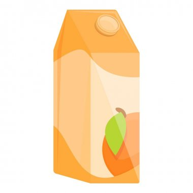 Juice pack icon. Cartoon of Juice pack vector icon for web design isolated on white background icon