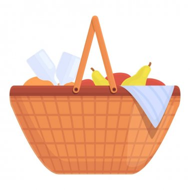 Snacks basket icon. Cartoon and flat of Snacks basket vector icon for web design isolated on white background icon