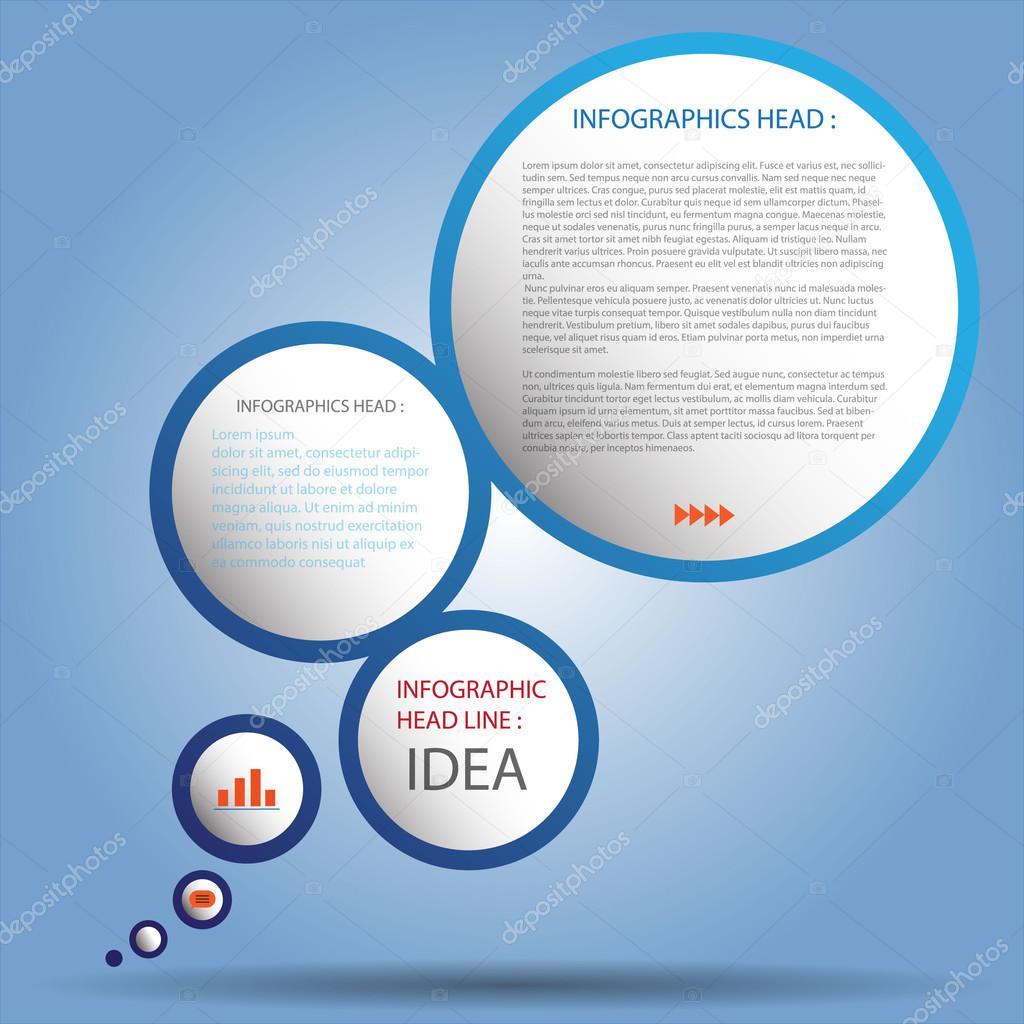Diseño limpio número diseño de plantilla de gráfico o página web de ...