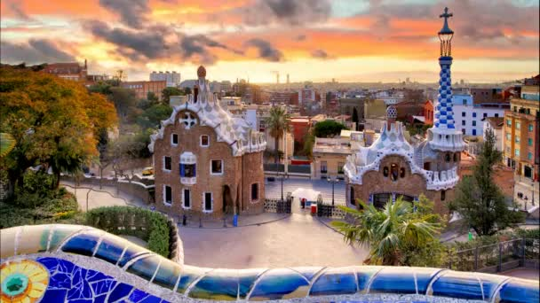 Barcelona, Park Guell, Spain - nobody, Time lapse