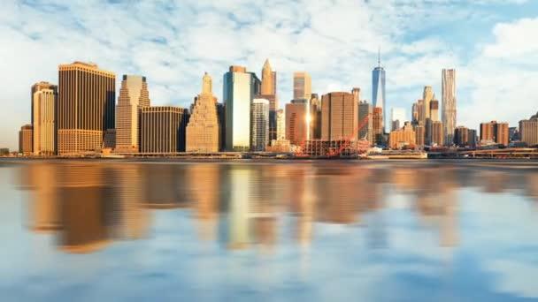 Manhattan at sunrise, New York, Time lapse