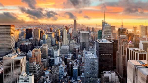 New York Panorama při západu slunce, Usa, časová prodleva