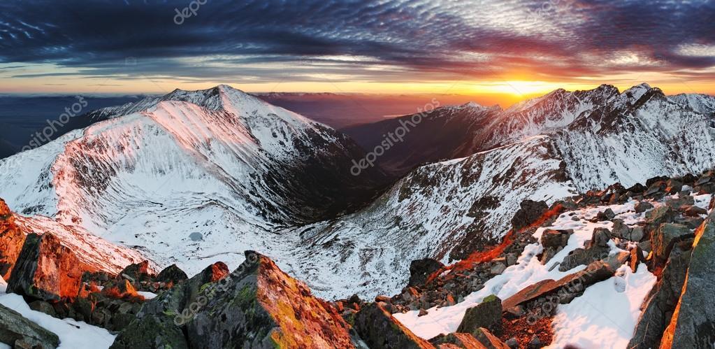 Sunset in Slovakia Tatras