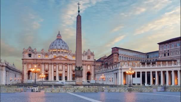 Vatican - Saint Peters square in Rome, Time lapse