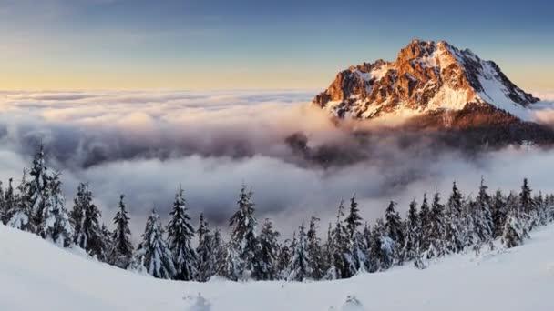 Vrchol hory v zimě - Roszutec - Slovensko hory Fatra