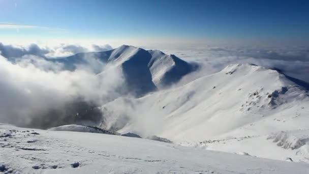 Zimní horské krajiny - časová prodleva