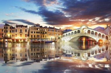 Venice, Rialto Bridge. Italy.