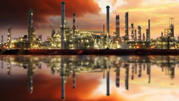 Gasraffinerie, Ölindustrie - Zeitraffer