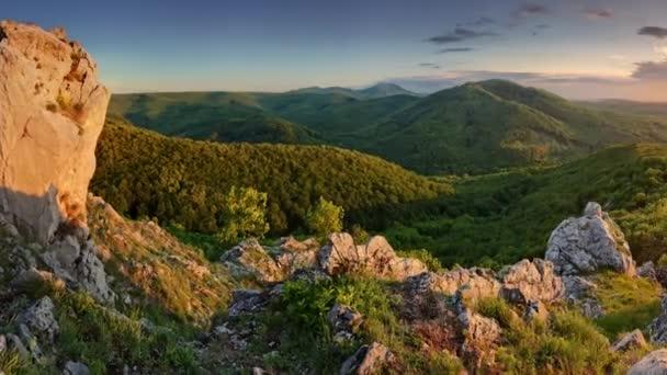 Příroda horské slunce - panoramatické, Slovensko, mužské Karpaty