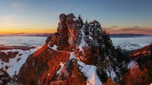 panoramatické horské Zimní krajina, Slovensko