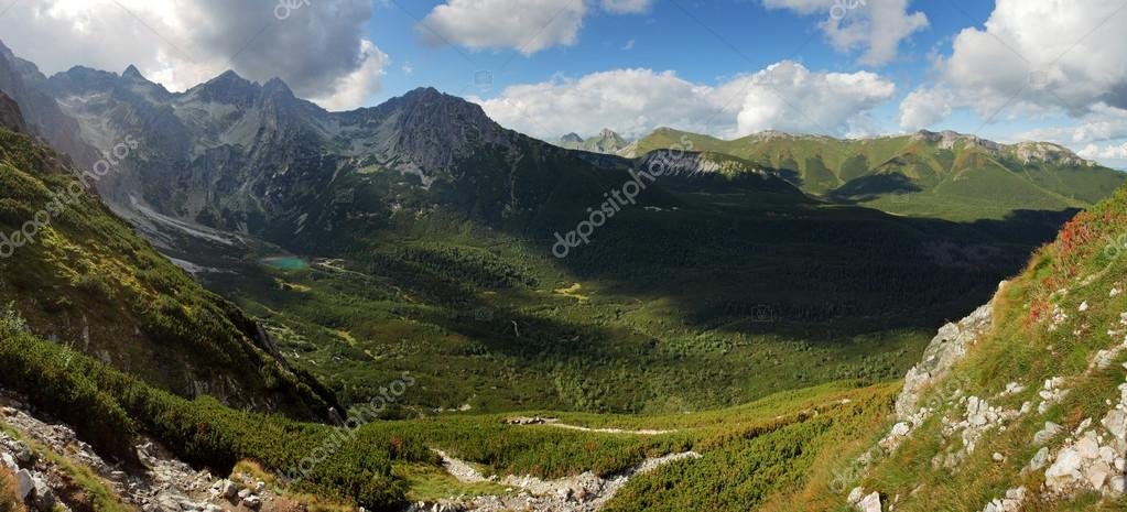 Green moutain with valley, Slovakia, Tatras