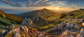 Photo Panorama rocky mountain at sunset in Slovakia