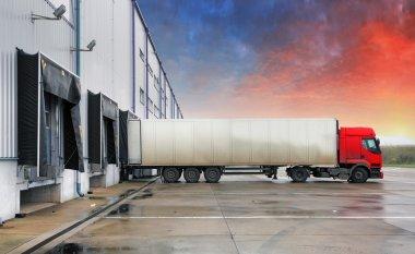Truck, transportation, warehouse