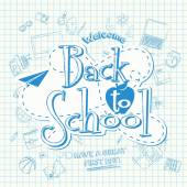 Back To School background of school supplies