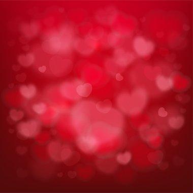 Kırmızı zemin üzerine zarif Sevgililer günü kartı