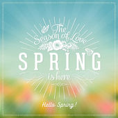 Fotografie Fresh Spring Typographical Background