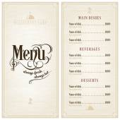Fotografie Restaurant or cafe menu design template
