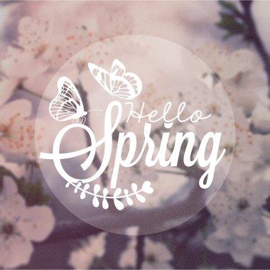 Hello Spring Vintage Background