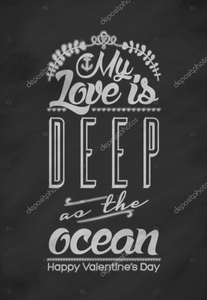 Meine Liebe Ist Tief Wie Der Ozean Valentinstag Karte